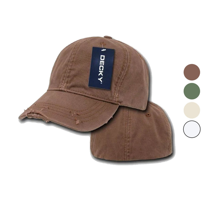 Decky Fitted Vintage Washed Polo Distressed Baseball 6 Panel Hats Caps