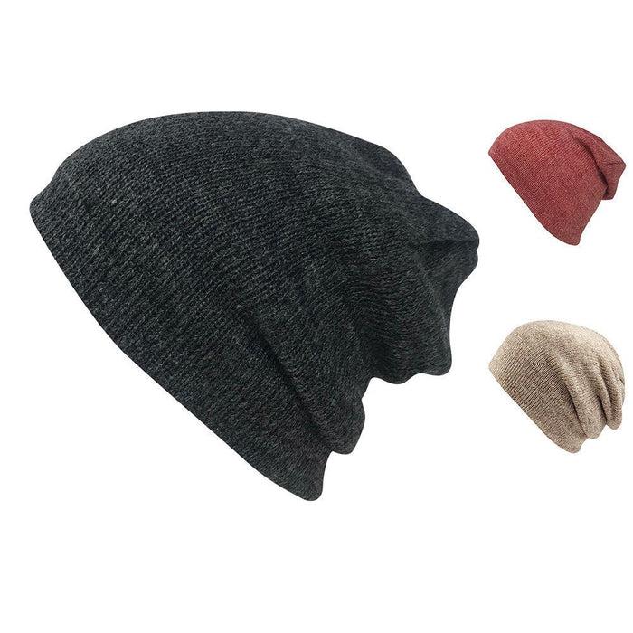Casaba Winter Double Layer Beanies Toboggan Washed Skull Caps Hats for Men Women