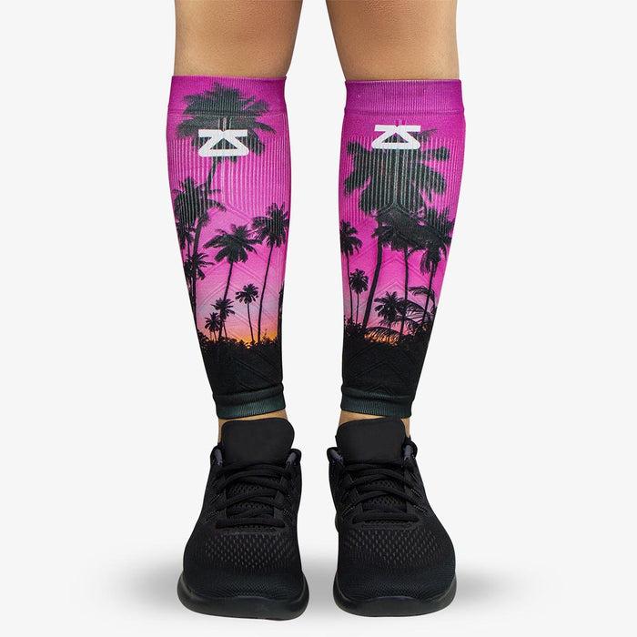 72976f1306 Tropical Palm Trees Compression Leg Sleeves