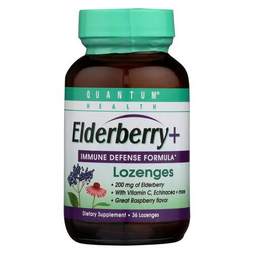 Quantum Elderberry Lozenges Raspberry - 36 Lozenges