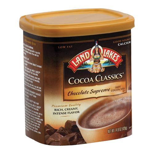 Land O Lakes Cocoa Classics - Supreme Hot - Case Of 6 - 14.8 Oz.