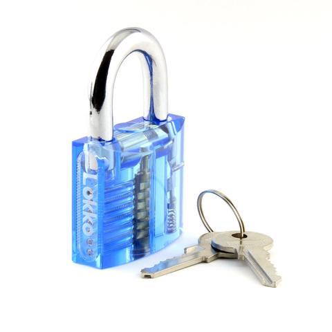 Clear Lock Picking Padlock + Visible Mechanism : Medium Difficulty