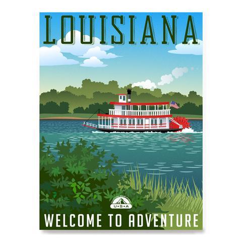 Retro Travel Poster Series: LOUISIANA