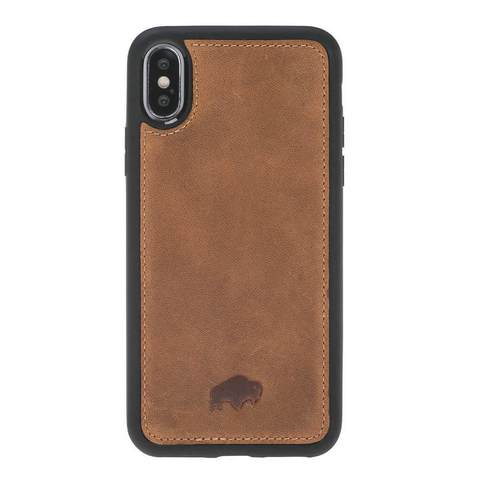 York 360 Degree Leather Snap On Case for Apple iPhone X / XS
