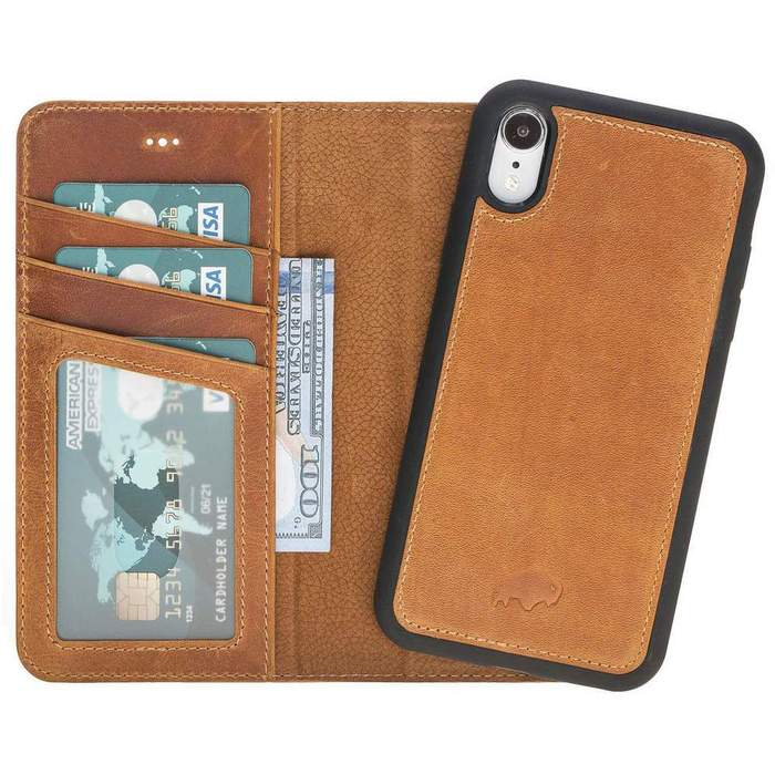Carson Magnetic Detachable Leather Wallet Case For Apple iPhone XR