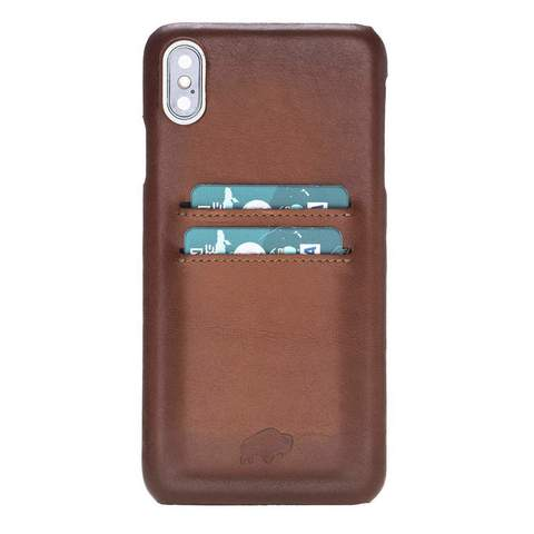 Snap On Case with Credit Card Slots for Apple iPhone XS Max