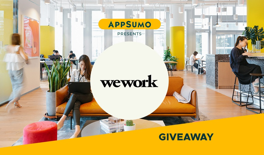 WeWork Giveaway | Exclusive Offer from AppSumo