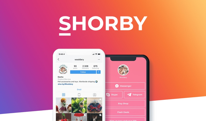 Supercharge your Instagram bio with links, messengers, and tracking with SHORBY