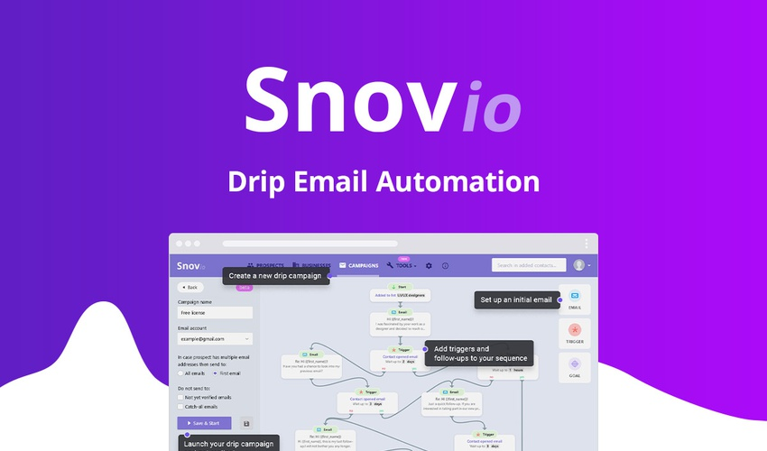 Increase conversions with automated outreach from Snovio