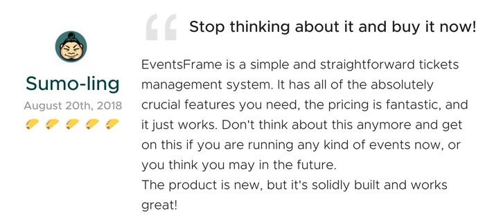 Lifetime Access to EventsFrame