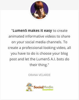 Lifetime Access to Lumen5