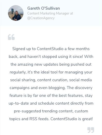 Lifetime Access to Content Studio