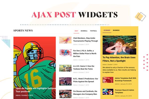 Ajax Post Widgets