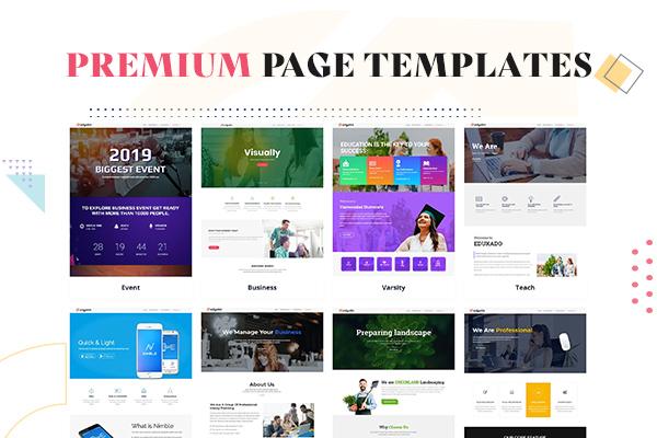 Premium Page Templates