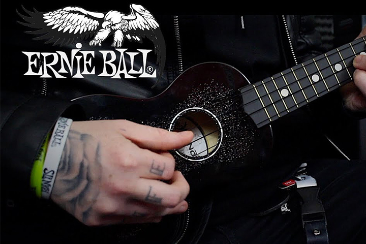 Ernie Ball 2326 Ukulele Ball-End Saiten Satz Black Nylon Konzert Sopran Uke