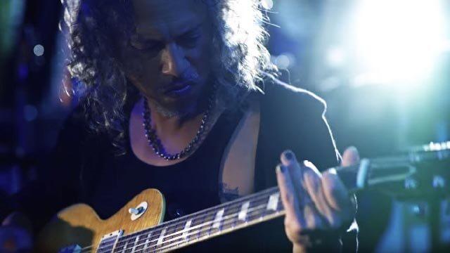 Kirk Hammett of Metallica plays Slinky RPS Nickel Wound strings