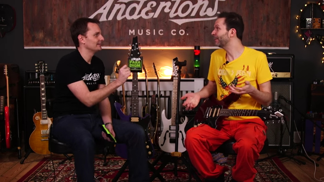 Paul Gilbert checks out the strength of the new Ernie Ball Paradigm strings.