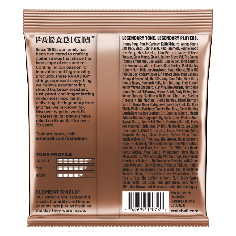 Paradigm Phosphor Bronze Acoustic Guitar Strings Ernie Ball