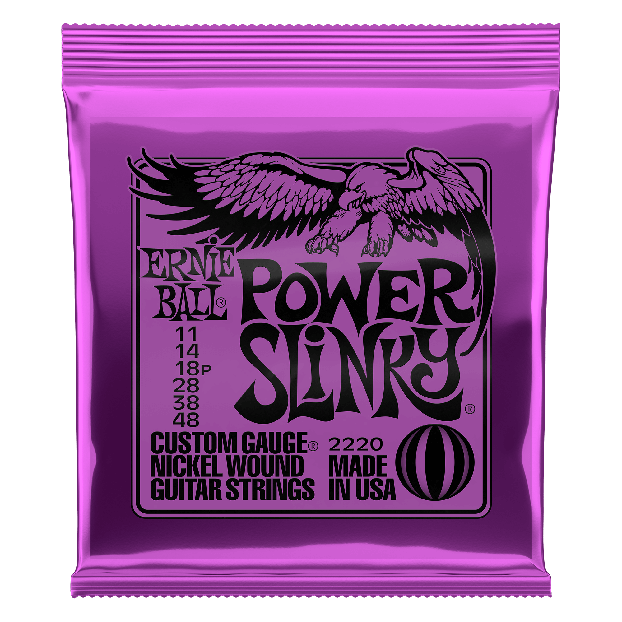Ernie Ball P02220 Power Slinky 3 Sets Pack Electric Guitar Strings 11-48