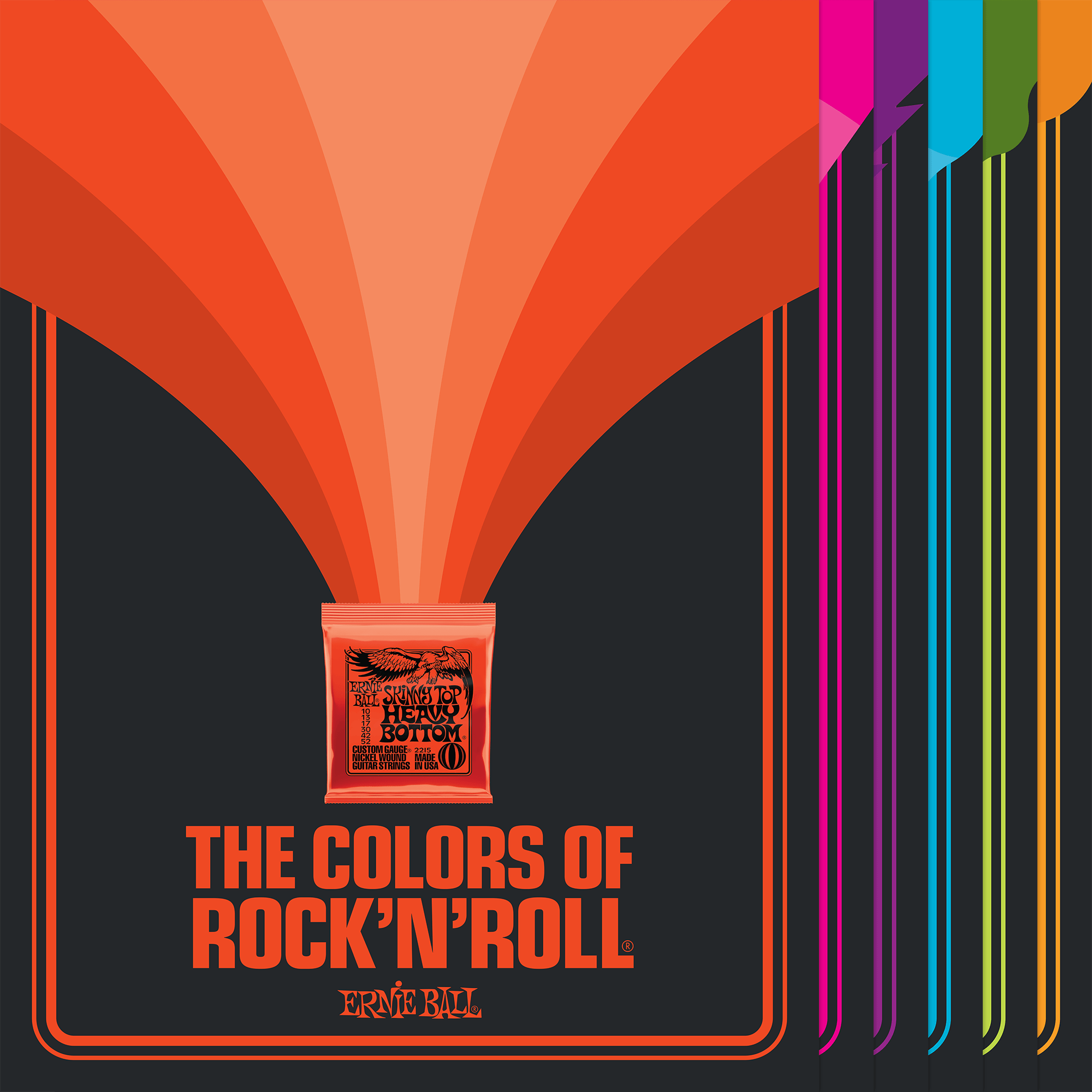 colors of rock n roll posters ernie ball