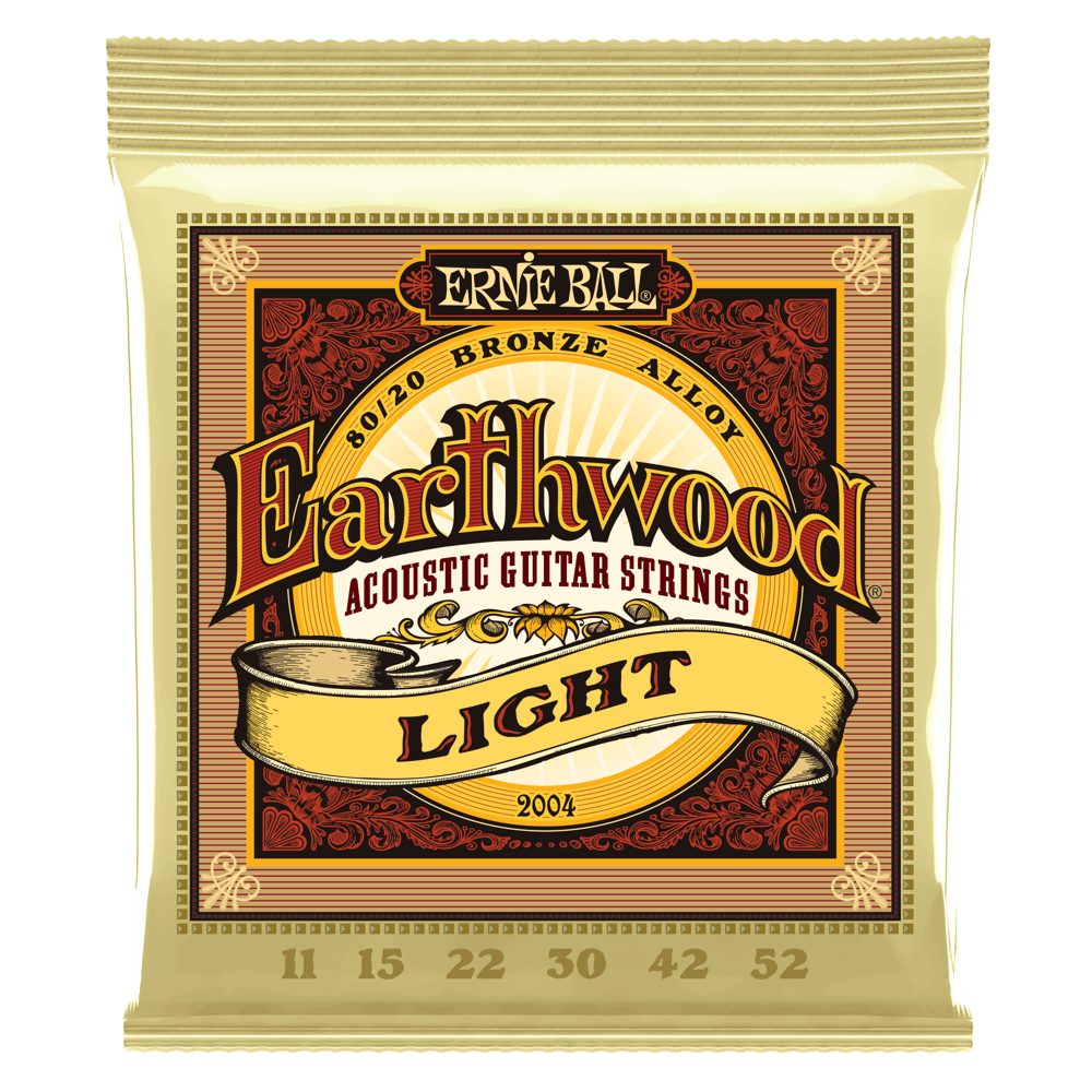 Earthwood Light 80/20 Bronze Acoustic Guitar Strings - 11-52 Gauge