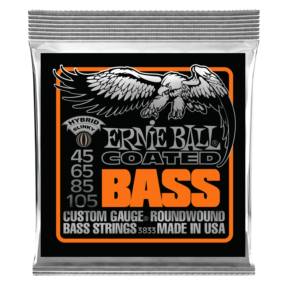Hybrid Slinky Coated Electric Bass Strings - 45-105 Gauge