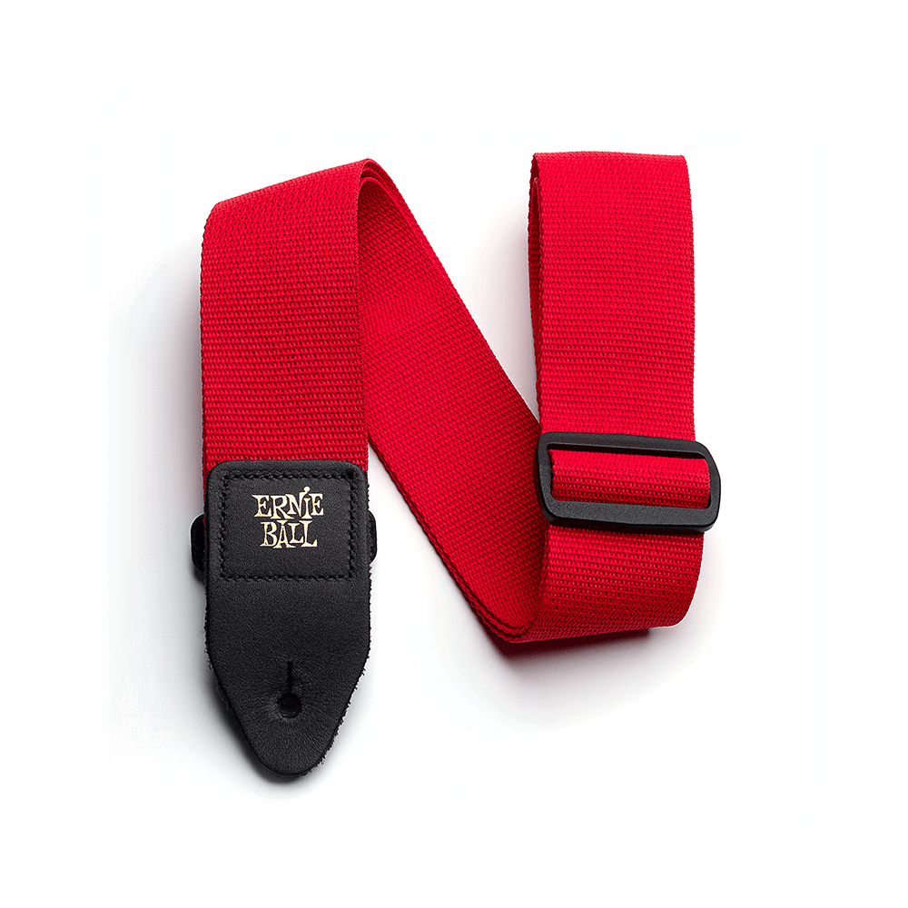 Red Polypro Guitar Strap