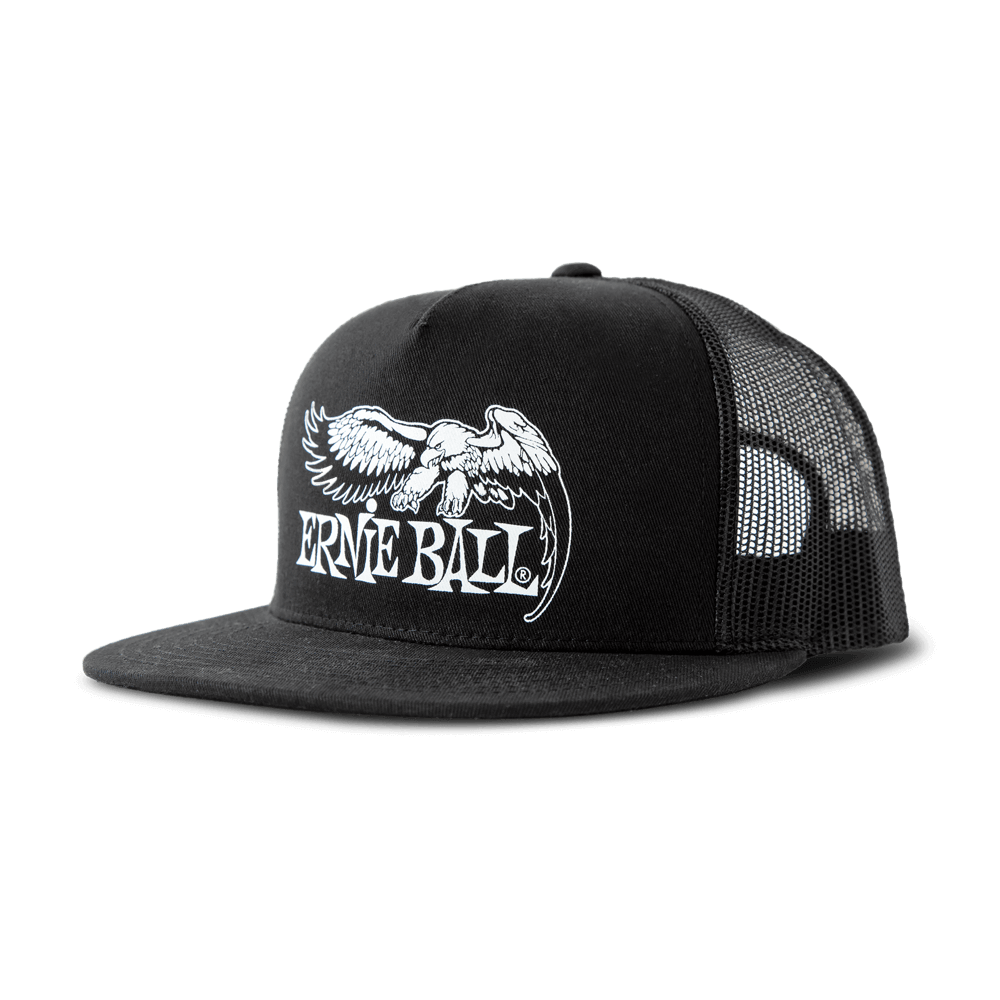 Black with White Eagle Logo Hat Front 16d904074558