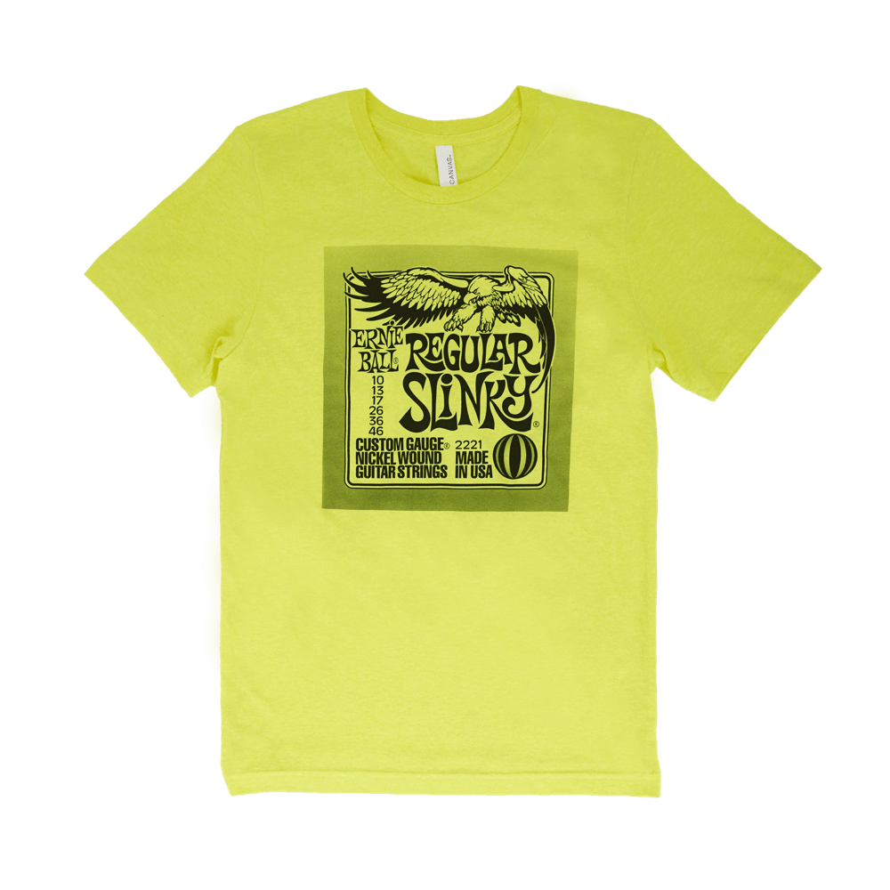 Petit T-Shirt Jaune Ernie Ball Regular Pack  Front