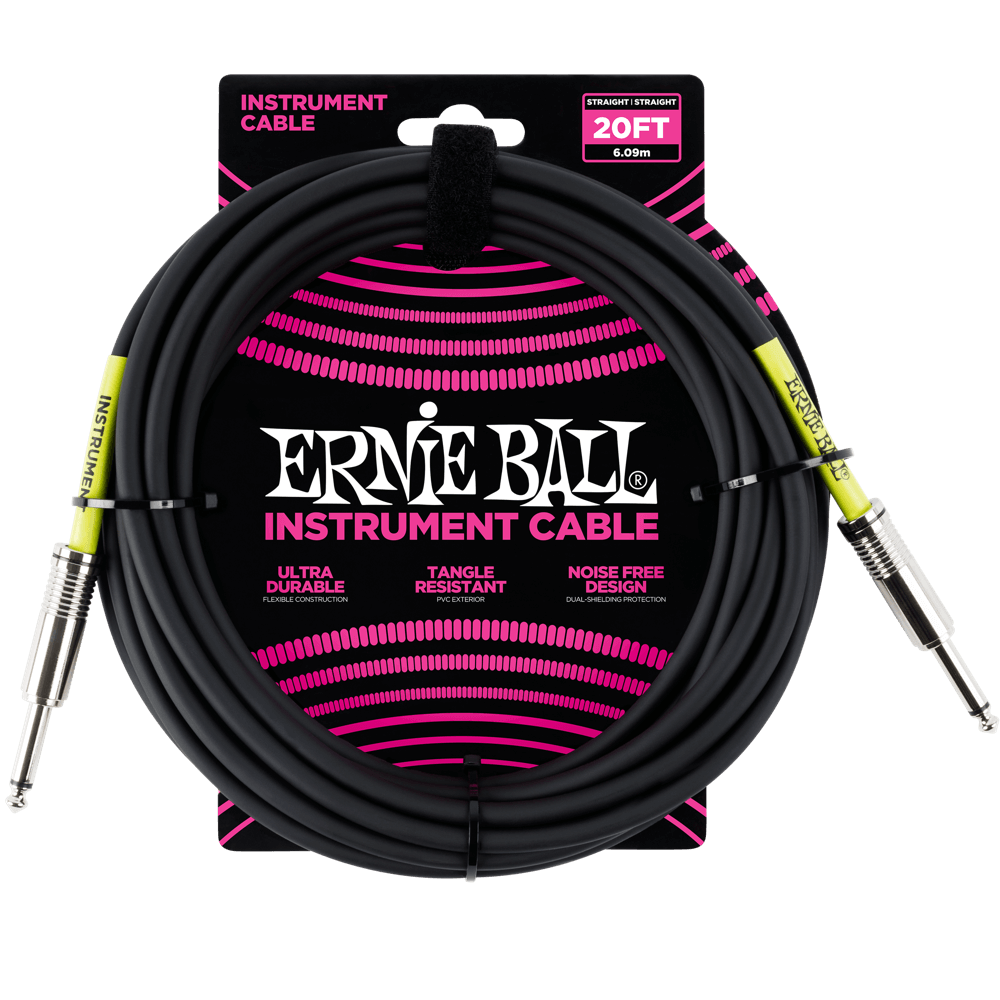 20' Straight / Straight Instrument Cable - Black