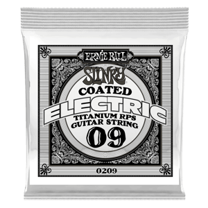 .009 Slinky Coated Titanium Reinforced Plain Electric Guitar Strings 6 Pack Thumb