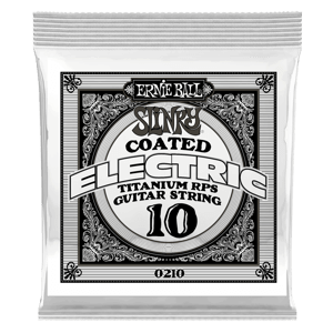 .010 Slinky Coated Titanium Reinforced Plain Electric Guitar Strings 6 Pack Thumb