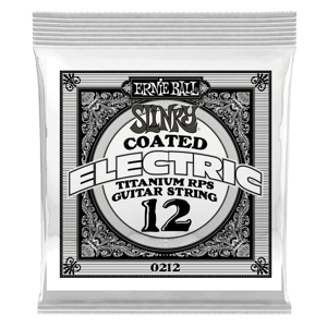 .012 Slinky Coated Titanium Reinforced Plain Electric Guitar Strings 6 Pack Thumb