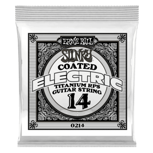 .014 Slinky Coated Titanium Reinforced Plain Electric Guitar Strings 6 Pack Thumb