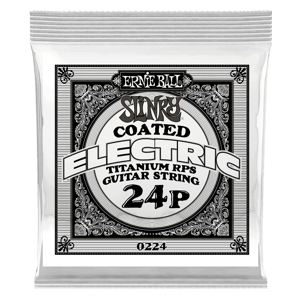 .024 Slinky Coated Titanium Reinforced Plain Electric Guitar Strings 6 Pack Thumb