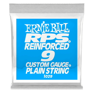.009 RPS Reinforced Plain Electric Guitar Strings 6 Pack Thumb