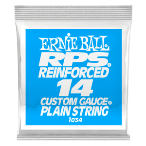 .014 RPS Reinforced Plain Electric Guitar Strings 6 Pack Thumb