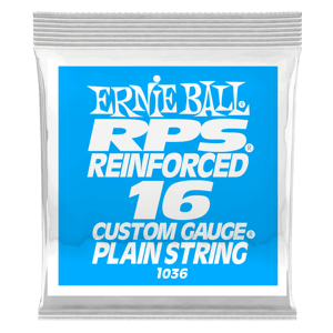 .016 RPS Reinforced Plain Electric Guitar Strings 6 Pack Thumb