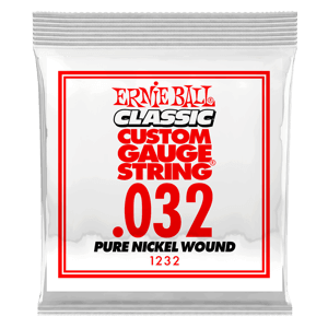 .032 Classic Pure Nickel Wound Electric Guitar Strings 6 Pack Thumb