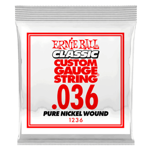 .036 Classic Pure Nickel Wound Electric Guitar Strings 6 Pack Thumb