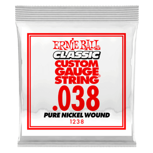 .038 Classic Pure Nickel Wound Electric Guitar Strings 6 Pack Thumb