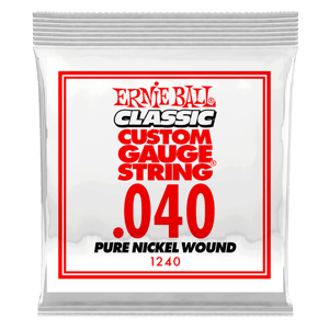 .040 Classic Pure Nickel Wound Electric Guitar Strings 6 Pack Thumb