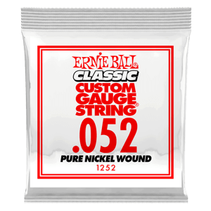 .052 Classic Pure Nickel Wound Electric Guitar Strings 6 Pack Thumb