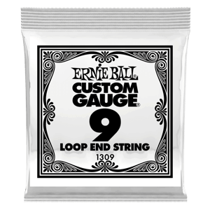.009 Loop End Stainless Steel Plain Banjo or Mandolin Guitar Strings 6 Pack Thumb