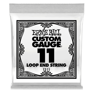 .011 Loop End Stainless Steel Plain Banjo or Mandolin Guitar Strings 6 Pack Thumb
