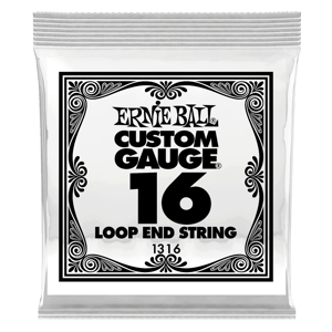.016 Loop End Stainless Steel Plain Banjo or Mandolin Guitar Strings 6 Pack Thumb