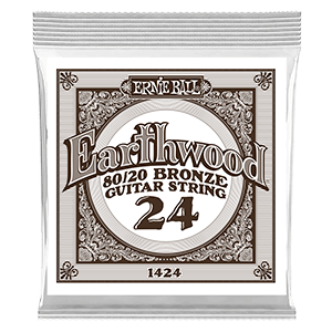.024 Earthwood 80/20 Bronze Acoustic Guitar Strings 6 Pack Thumb