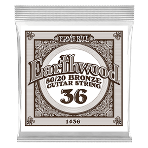 .036 Earthwood 80/20 Bronze Acoustic Guitar Strings 6 Pack Thumb