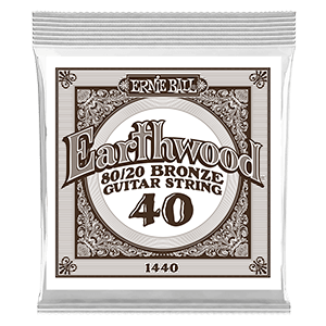 .040 Earthwood 80/20 Bronze Acoustic Guitar Strings 6 Pack Thumb