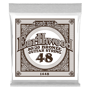 .048 Earthwood 80/20 Bronze Acoustic Guitar Strings 6 Pack Thumb